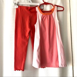 Lot Of 2 Kids Korner Color Block Dress Leggings 2T